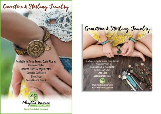 Ad design and Logo refresh for Phyllis Warman Jewelry Design.