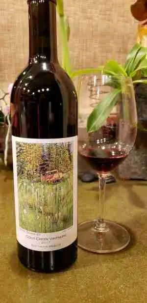 Red Truck Merlot Private Collection Wine Label illustration by Janet Murphy
