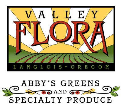 Logo design, digital illustration and typography design for Oregon farm.