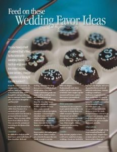 Wedding magazine article design and photo editing.