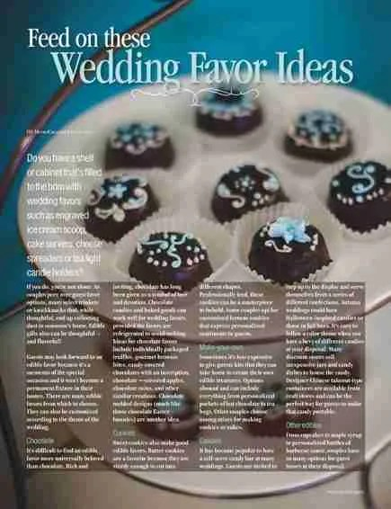 Wedding Planner Magazine interior page design and photo editing.