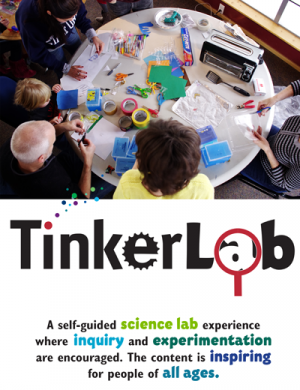 Website, social media image and logo design for family weekend museum science labs.