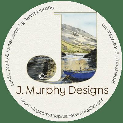 janet murphy designs shop logo drift boat print