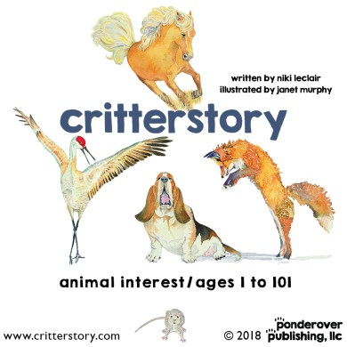 Book illustrations and design for 'critterstory' a children's picture book ©Ponderover Publishing, LLC