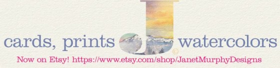Janet Murphy Designs now cards, prints, and original watercolors now on Etsy! https://www.etsy.com/shop/JanetMurphyDesigns