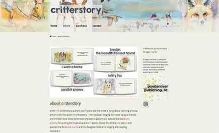 critterstory.com website design