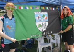 Shauna with a team mate from the Seoul Gaels