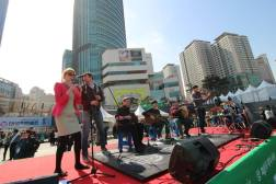 On stage at the Seoul Ceili