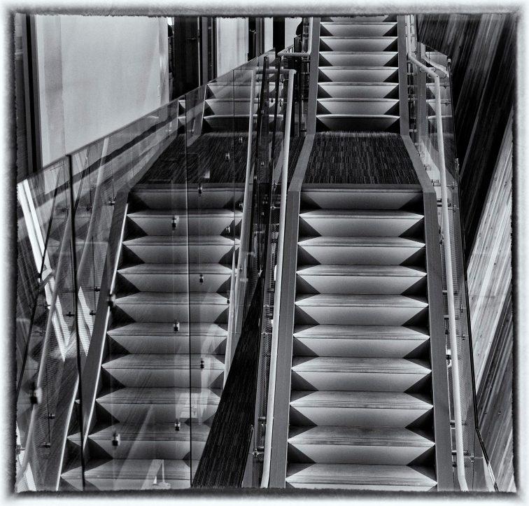 B+W, Stairs, UBC, BC