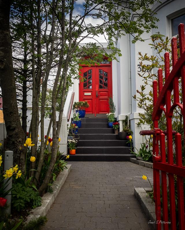 Doors, Reykjavik, Iceland, architectural details