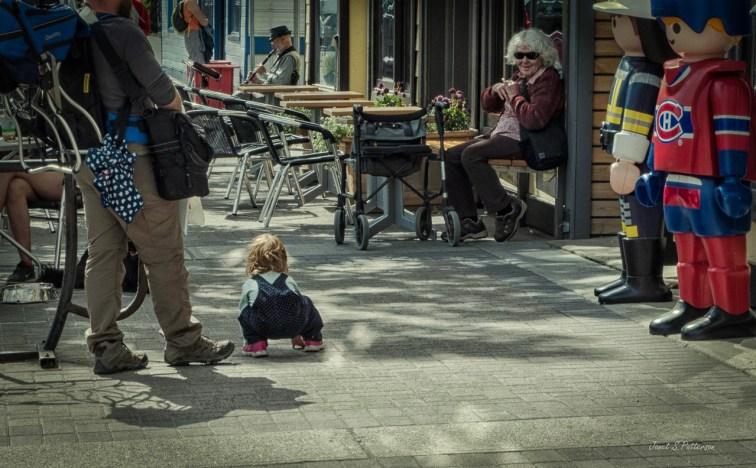 People, streetscape, child, woman, Yukon, Whitehorse