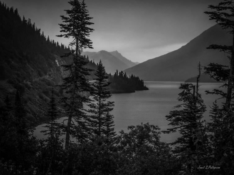 landscape, seascape, B+W, BC, Alaskan Highway trip
