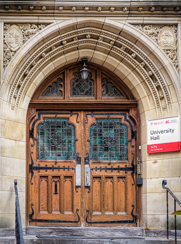 Doors, architecture, Montreal, McGill University, 2019