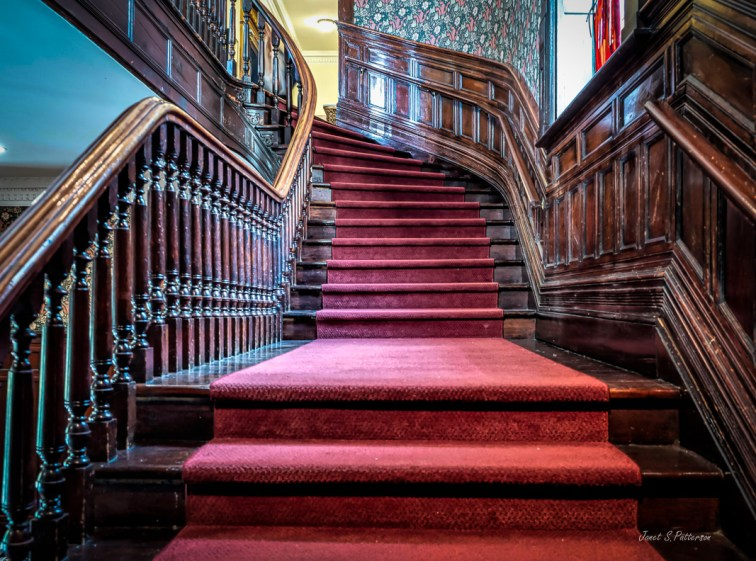 stairs, carpet, internal, wood,  McGill,  Faculty Club, Montreal