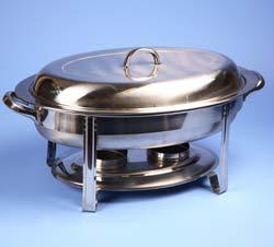 """Medium Oval Chafing Dish 18"""" x 12"""""""