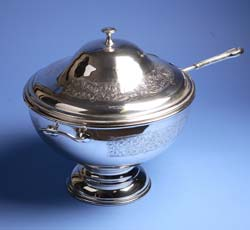 Silver Punch Bowl & Ladle