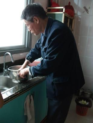 My eldest cousin was preparing home grown sweet potatoes.