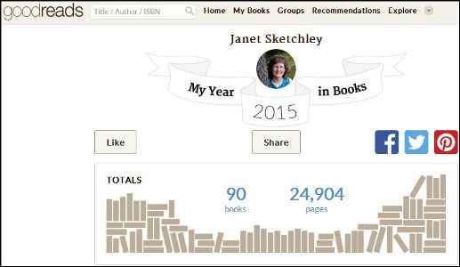 Goodreads: Janet's Year in Books