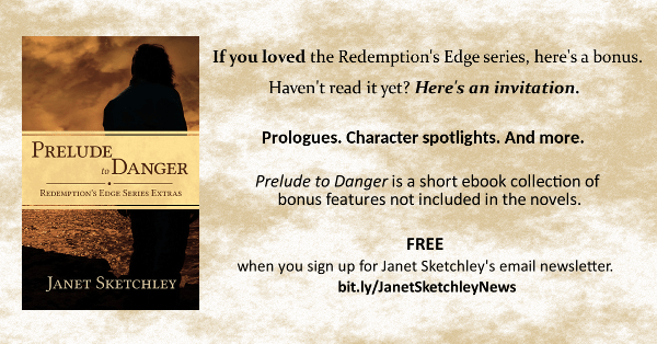 Get Prelude to Danger free when you sign up for Janet Sketchley's fiction newsletter.