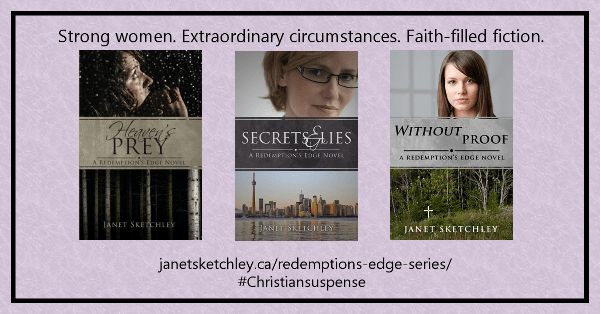"""Strong women. Extraordinary circumstances. Faith-filled fiction.""  #Christiansuspense"