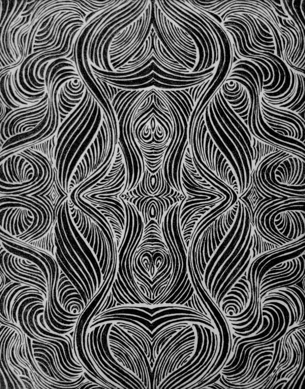 Swirls photopolymer etching