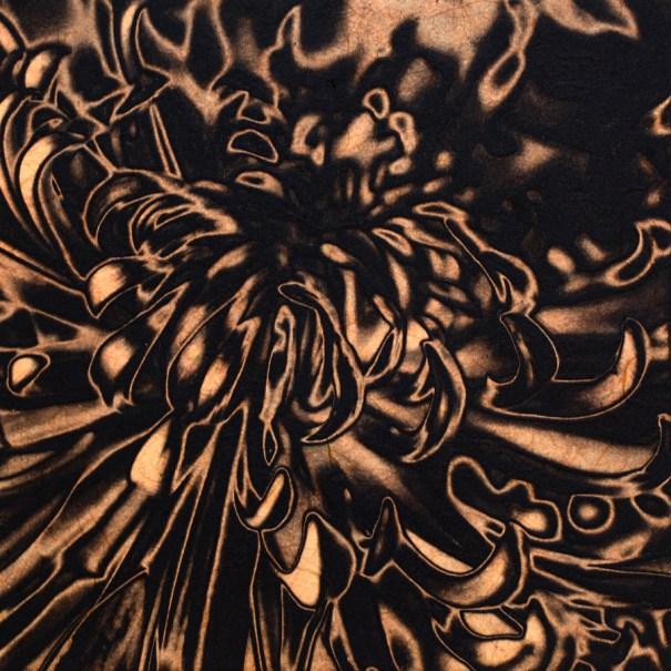 Solar Mum chine-collé (peach) by Janet Towbin