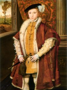 February 20, 1546 - Edward VI crowned King. Only nine, his reign was limited by the powers of his uncle, Lord Protector. Read more on www.janetwertman.com