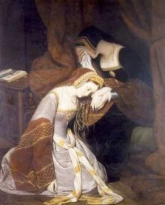 "May 18, 1536 - Anne Boleyn, awaiting death, is said to have written her dirge ""Oh Death, Rock Me Asleep"". Read it on www.janetwertman.com"