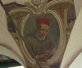 Portrait in the cloister of the Ognissanti Church