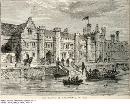 A sketch of Greenwich Palace published in the Gentlemen's Magazine in 1840
