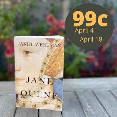 Photo of the book cover with the sale price (99c)