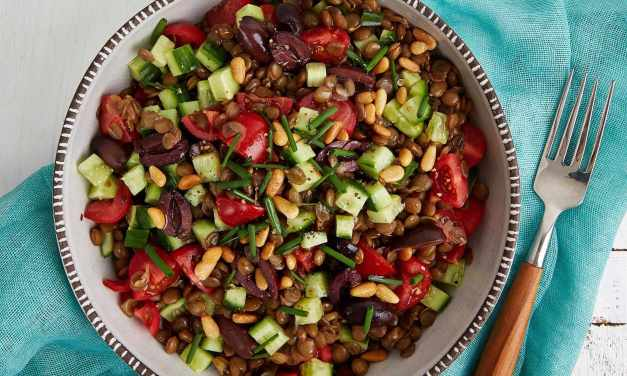 Greek Lentils with Olives and Herbs