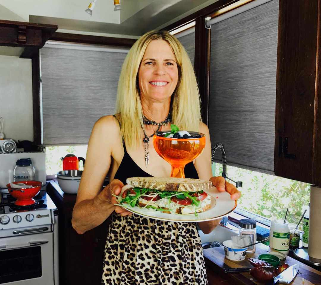 LBL Deborah Vidal with food 6:28:17