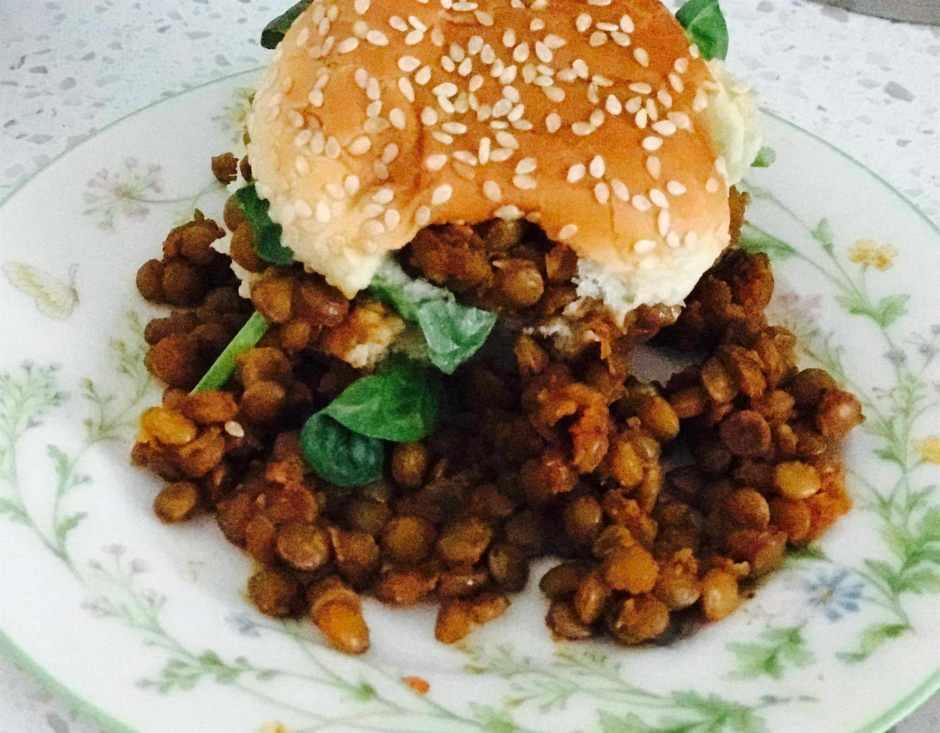 LBL Kawani Brown Kale and BBQ Lentils 6:30:17