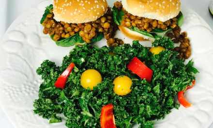 Kid Friendly Kale Salad & BBQ Lentil Sliders