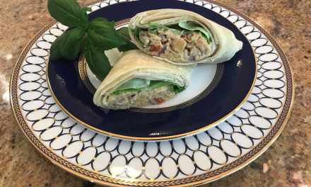 Crispy Chickpea Sun-Dried Tomato Wraps