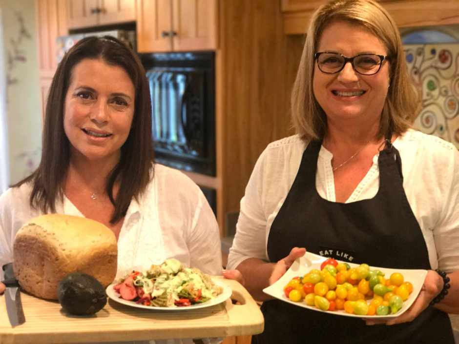 Lawrence Sisters with Finished Salad Plated