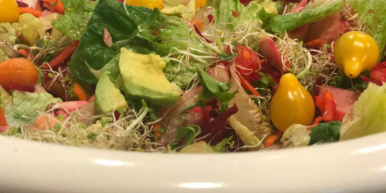 Sensational Summer Salad with Creamy Lemon-Mint Dressing