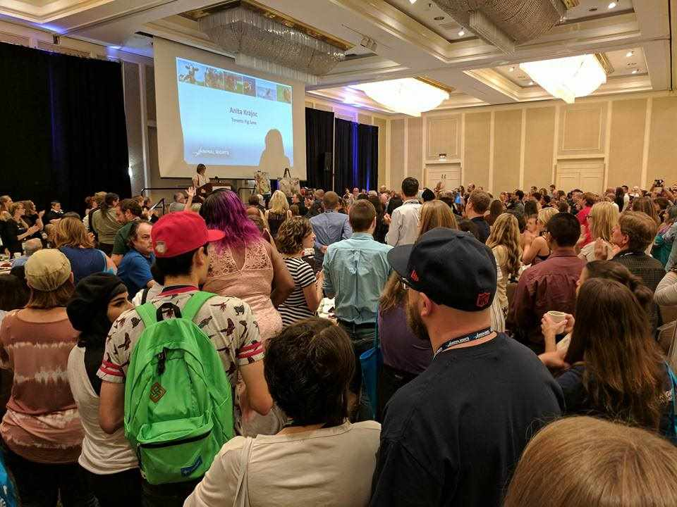 Packed house when Anita speaks at AR2017