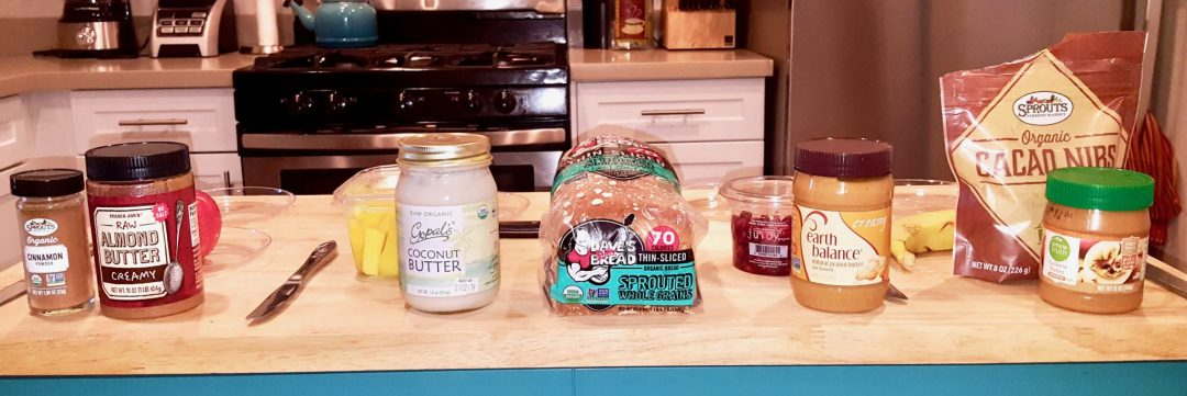 Ingrdients for 4-Gourmet Nut Butter Sandwiches 2