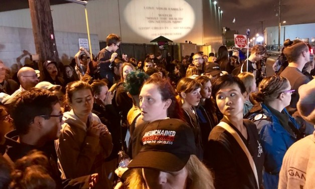 Hundreds Crowd Outside Slaughterhouse After Midnight To Say Goodbye To Suffering Pigs!
