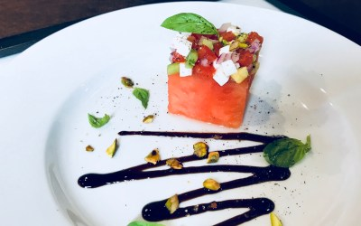 Watermelon & Heirloom Tomato Salad