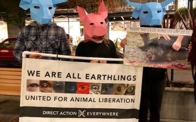 """""""'Humane' Meat Is a LIE. Animals Still Suffer and DIE!"""" Is These Protesters Message!"""
