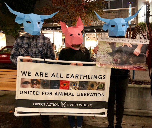 """'Humane' Meat Is a LIE. Animals Still Suffer and DIE!"" Is These Protesters Message!"
