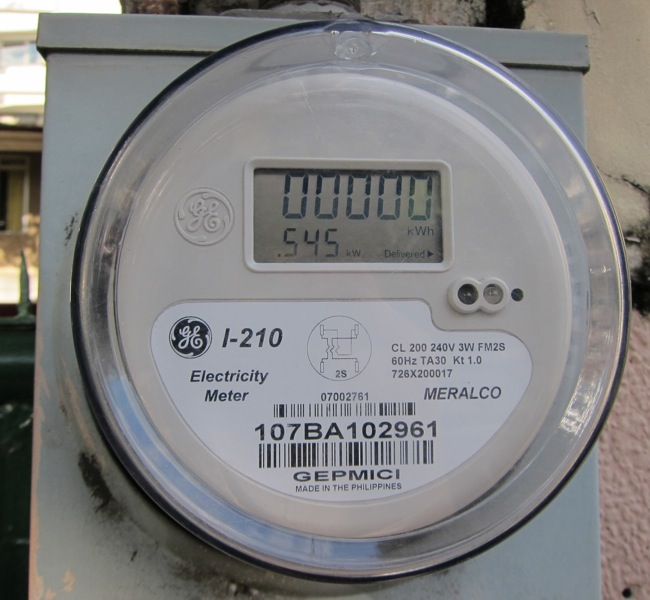 Electronic Electric Meter : My meralco electric meter is finally digital life take