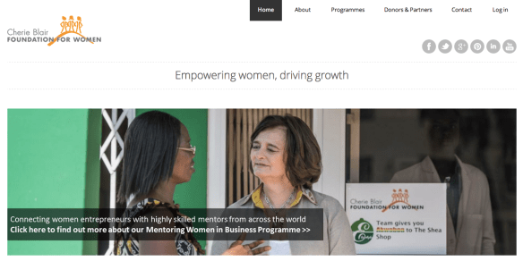 Cherie Blair Foundation website