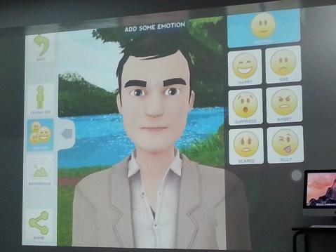 Adding emotion to avatar