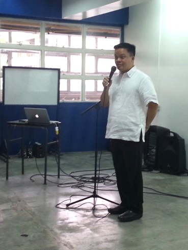 Fr. Ari Dy, SJ, Xavier School Director, welcomes all the tech integrators