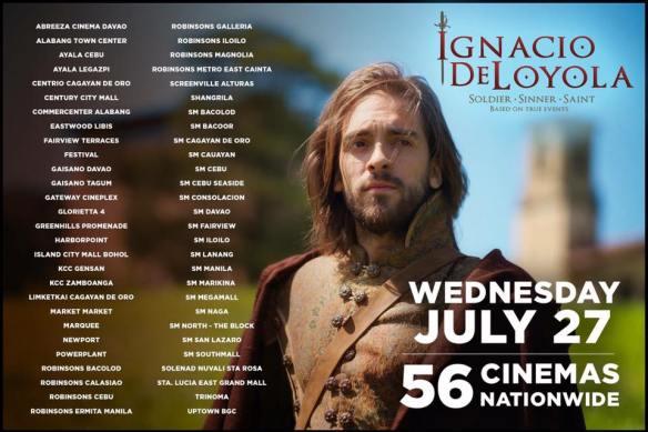 List of cinemas showing Ignacio de Loyola