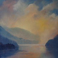 After the rain, Thirlmere Oil painting